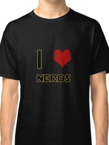 I Heart Nerds (Star Wars style with Princess Leia buns) Classic T-Shirt