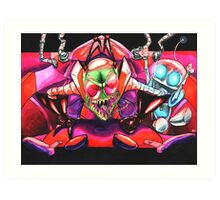 !!!ZIM!!! and Gir in the Voot Cruiser Art Print