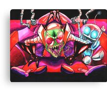 !!!ZIM!!! and Gir in the Voot Cruiser Canvas Print