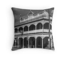 Castle Hotel Main Street Throw Pillow