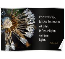 See Light in Your Light ~ Psalm 36:9 Poster