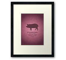 Stop Animal Abuse Framed Print