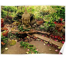 Buddha In The Garden Poster