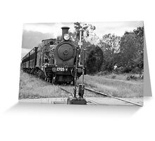 Engine 2705 Arriving at Buxton NSW Greeting Card