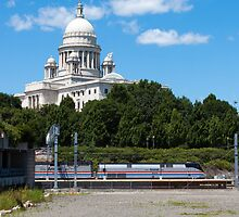 Amtrak Exhibit Train in Providence by Matthew Modica