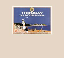 Torquay Vintage Travel Poster Restored Unisex T-Shirt