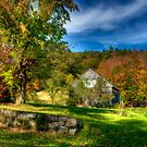 New England Barn With A View by Monica M. Scanlan