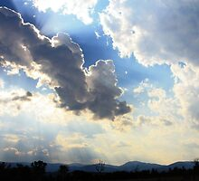 Summer clouds over the Brindabella Range by Tim Coleman