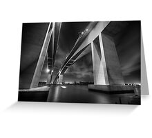 Brisbane's Gateway Bridge B&W Greeting Card