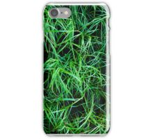 Green Grass Abstract 02 iPhone Case/Skin