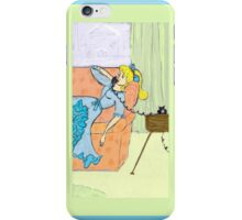 Retro Girl on the Phone iPhone Case/Skin