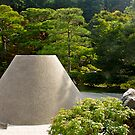 Ginkaku-ji Temple, Mt Fuji sculpture, Kyoto, Japan. by johnrf