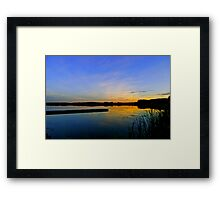 Hasse Lake Sunset, Alberta Canada Framed Print
