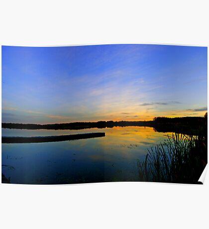 Hasse Lake Sunset, Alberta Canada Poster