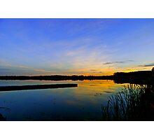 Hasse Lake Sunset, Alberta Canada Photographic Print