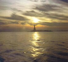 Statue of Liberty at Sunset by Curt Russell