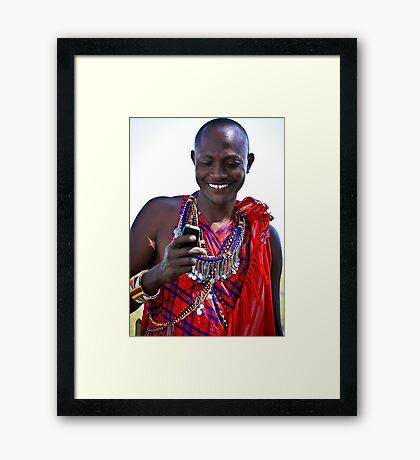 Mobile Maasai  Framed Print