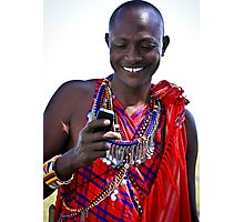 Mobile Maasai  Photographic Print