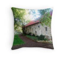 Barracks at Ross, Tasmania Throw Pillow