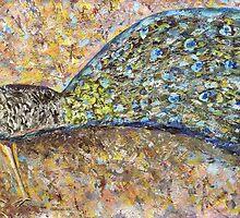 Peacock and the rainbow by Thecla Correya