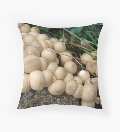 Puffball Convention Throw Pillow