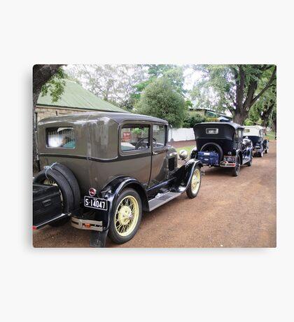 Vintage Cars in Ross, Tasmania Canvas Print