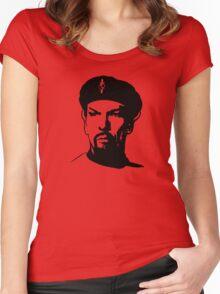 Evil Spock Plain  Women's Fitted Scoop T-Shirt