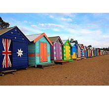 Brighton beach boxes Photographic Print