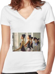 At the Barre Women's Fitted V-Neck T-Shirt