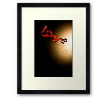 Love Ribbon Framed Print