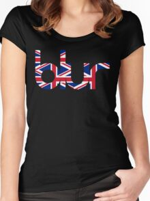 Blur UK Logo Women's Fitted Scoop T-Shirt