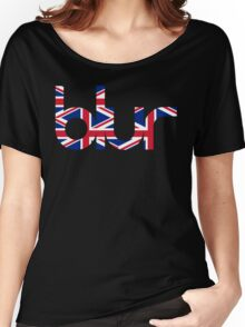Blur UK Logo Women's Relaxed Fit T-Shirt