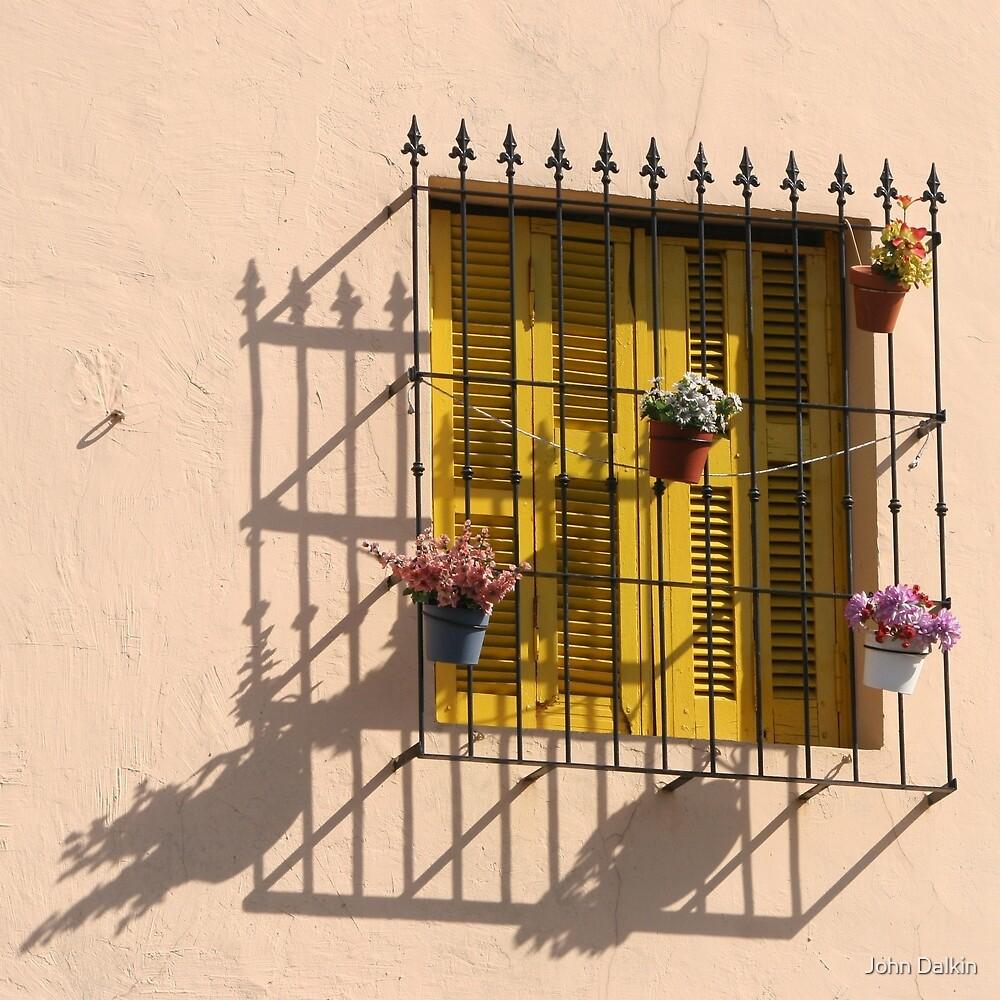 Yellow Shutters in La Boca by John Dalkin