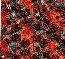 red and orange abstract design by kasiunia
