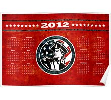 American Patriot Flag Poster Calendar 2012 Poster