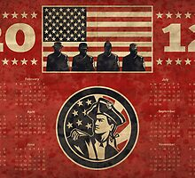 American Patriot Flag Poster Calendar 2012 by patrimonio