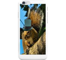 ☁ ☂  Squirrel With Top Hat iPhone Case ☁ ☂   iPhone Case/Skin
