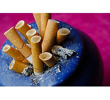 Cigarette butts in ashtray Photographic Print