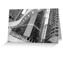 Riverside - Black and White Greeting Card