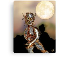 Wolfman and Full Moon Canvas Print