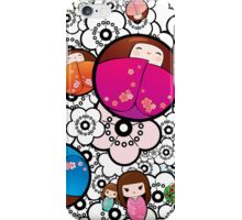 Kokeshi dolls iPhone Case/Skin