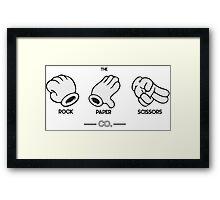 The Rock, Paper, Scissors Co. Framed Print