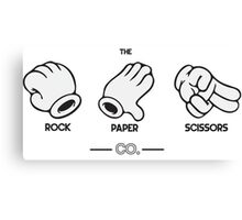 The Rock, Paper, Scissors Co. Canvas Print