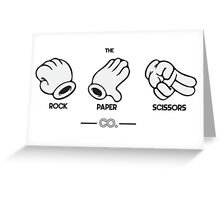 The Rock, Paper, Scissors Co. Greeting Card
