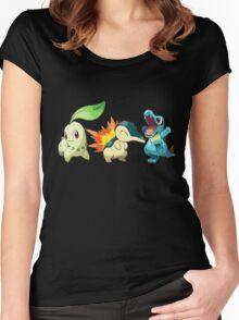pokemon starter 1 Women's Fitted Scoop T-Shirt