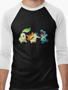 pokemon starter 1 Men's Baseball ¾ T-Shirt