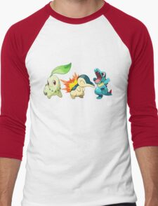pokemon starter 1 Men's Baseball ¾ T-Shirt