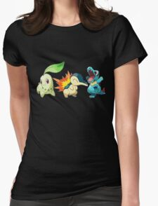 pokemon starter 1 Womens Fitted T-Shirt