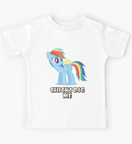 "Rainbow Dash - ""Chicks"" Kids Tee"