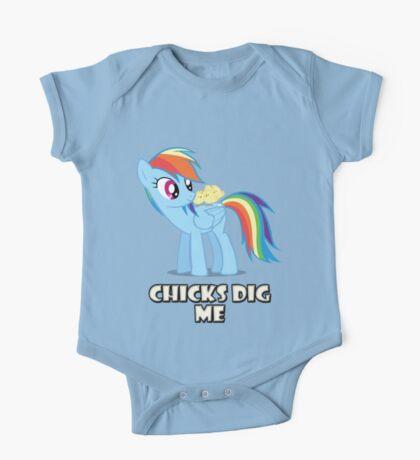 "Rainbow Dash - ""Chicks"" One Piece - Short Sleeve"